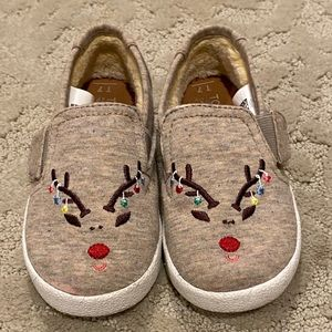 Toms holiday shoes size 7 toddler